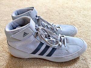 Adidas HVC2 Wrestling Shoes Grey/Black  Size 11 NEW