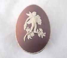 Wedgwood Lilac Lavender or Purple Jasperware Egg Shape Trinket Box