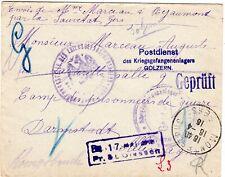 POW Brief KGF Golzern Giessen Darmstadt Zensur 1916 Gers Frankreich Militär 1.WK