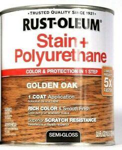 1 Cans Rust-Oleum 32 Oz Stain & Polyurethane 344670 Golden Oak Semi Gloss