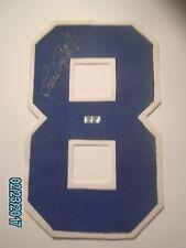 Javey Lopez Autographed Braves T/B 1980's #8 Jersey Number w/#d COA+Exact Proof