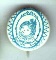 Vintage DOLL Premium pin RUFFLES Club Promotional pinback button