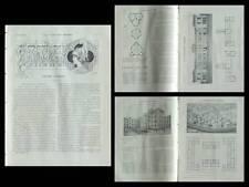 LA CONSTRUCTION MODERNE n°24 1914 PRIVAS, ECOLE FILLES, JAMME, ROME GIULIO MAGNI