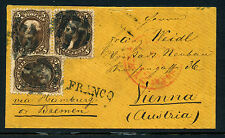 Scott #76 Jefferson Used Stamps on Cover to AUSTRIA (Stock #76-35)