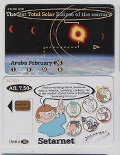 *@ ARUBA scheda telefonica Setar (vedi foto) - usata @*