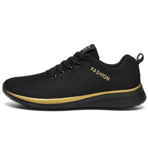 Breathable Mens Running Sport Shoes Trainers Fitness Gym Casual Lace Up Sneakers