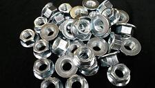 M12 NON SERRATED FLANGE NUTS ZP  50 PCS