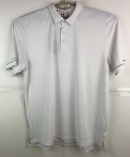 New With Tags Under Armour Xl Coldblack Address White/Steel Golf Polo Shirt