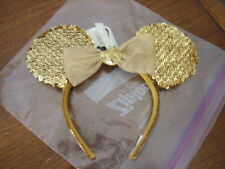 Mickey Minnie Mouse Gold Ears Disney 50th Anniversary Sequins Headband MINT NWT