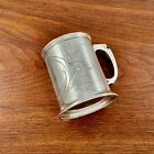EARLY GORHAM COIN SILVER ENGRAVED ENGINE TURNED MUG CUP NO MONOGRAM 1855-60