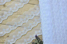Embroidery Mesh Lace 35mm White 2M/5M Sewing Edge Craft Decoration Trim Ribbon