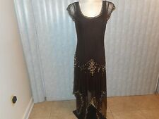 SIZE 14-MIXIT- Women Sexy Brown Beaded Dress      Size: 14