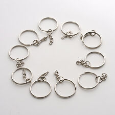 10pcs/Lot Keyring Blanks Key Chains Silver Tone Findings Split Rings Simple NEW