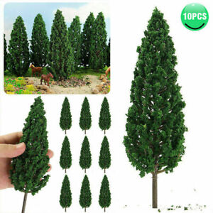 10Pcs Model Pine Trees 16cm 1:25 Green Pines For O G Scale Model Railroad Layout
