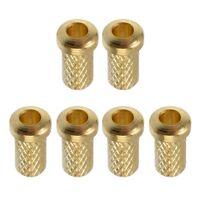 Bagues de férules de corde de guitare électrique d'or de fer durable 9 x