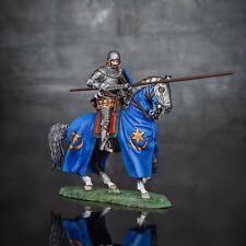 Hand Painted Toy Soldiers Medieval 1/32 Polish Knight Metal Cavalryman 54mm