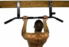 Mounted Pull Up Bar Padded Chin Gym Workout Exercise Fitness Strength Ceiling