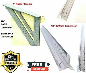 """7"""" Aluminium Roofing Roofer Square Carpenters Wood Working 7 Inch Alloy Tool"""