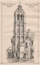 Tower of Saint Martin, Tours; Drawn by F. & W. Roper. Indre-et-Loire 1869