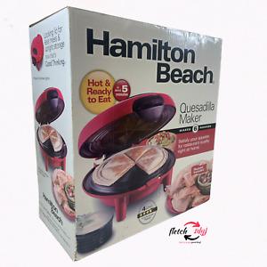 Hamilton Beach Quesadilla Maker Red 25409 Never Used Original Packaging