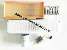 JAGUAR X TYPE V6 PETROL, OIL, AIR , FUEL FILTER, SPARK PLUGS SERVICE KIT