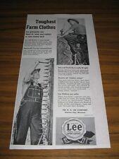 1954 Print Ad Lee Jelt Denim Jeans Toughest Farm Clothes Kansas City,MO