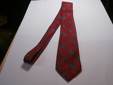 Mark Pendleton silk Mens Neck Tie red medallion print very nice Must See