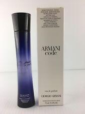 New*Tester*Box - Armani Code by Giorgio Armani for Women 2.5 Oz Edp Spray