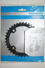 Fahrrad Kettenblatt Shimano Alivio 36 Zähne schwarz FC-M 431, 3 x 9,Neu