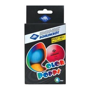 Donic-Schildkröt Tischtennisbälle Colour Popps 6er Pack