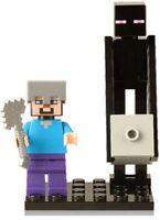 MINE CRAFT Steve Enderman Black Zombie Villager minifig Custom Lego Mini Figure