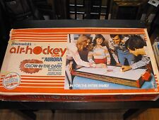 Vintage 1976 Brunswick's Air Hockey by Aurora Glow in the Dark! 3ft Long! Works!