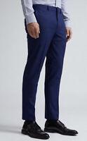 Burton Menswear London Skinny Fit Suit Trousers - Navy Size 32R BNWT