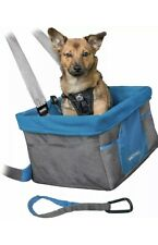 Kurgo Heather Dog Booster Seat, Car Seat For Small Dogs Blue/Grey
