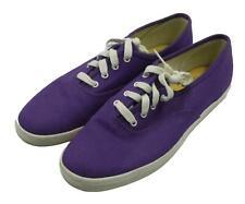 Keds Ladies Womans Purple White Low Top Comfort Shoes Sneakers 8M