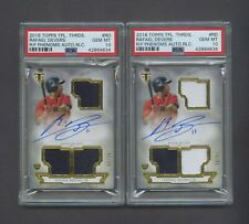 Lot Of (2) 2018 Topps Triple Threads Rafael Devers /99 Jersey RC AUTO PSA 10