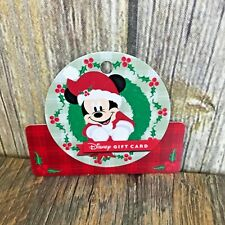 Disney Gift Card 2018 Holiday Christmas Card Mickey $0 BALANCE NO VALUE