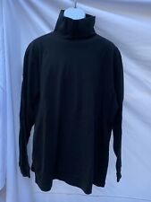 Rei Turtleneck Black Long Sleeve Shirt Tee Tshirt Xxl 2Xl Cotton Layer