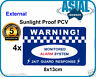 4 HEAVY DUTY PVC Vinyl Warning Sign Alarm External Security Sticker Home Office