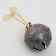 Vintage Wallace Silverplate 1979 Sleigh Bell Christmas Tree Holiday Ornament
