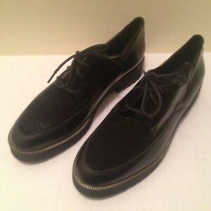 CARA LONDON Ladies Leather Black Codex Freeflex Shoes - Size UK 7