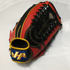 "HATAKEYAMA Black/Red/Gold 13"" Leather Right-HandedThrowerOutfield Baseball Glove"