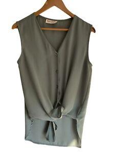 Sussan Medium Blouse Camisole Top Ladies EUC Button Front Made In Australia