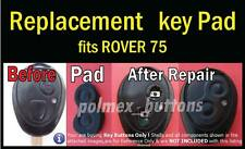 fits Rover 75  Remote Key Fob  - Buttons Repair Silicone Pad