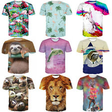 Womens/Mens Sloth Cute Animal Funny 3D Print Casual T-Shirt Short Sleeve Tee 5XL