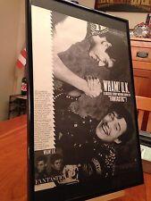 """Big 11X17 Framed Original & Rare Wham! U.K. """"Fantastic"""" Lp Album Cd Promo Ad"""