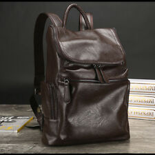 Fashion Men's Genuine Leather Backpack Casual Travel Bag Laptop bag School bag