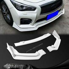 For 14-17 Infiniti Q50 Sport Painted White Front Bumper Body Spoiler Lip 3PCS