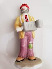 "The Emmet Kelly Collection Figurine Flambro Porcelain Clown 5 1/4"" Organ Grinder"