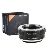 K&F Concept Objektivadapter für Rollei QBM Objektiv auf Sony E Mount NEX Kameras